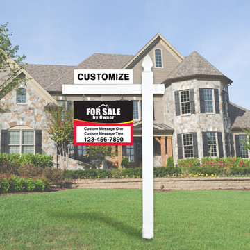 For Sale By Owner FSBO Sign Kit - Red/Black
