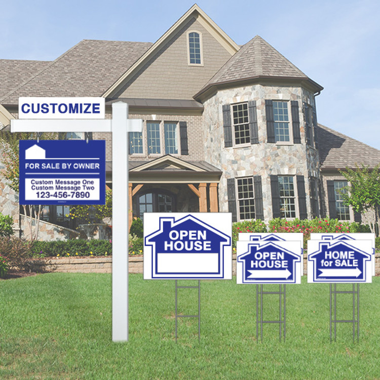 Deluxe Real Estate For Sale By Owner FSBO Sign Kit