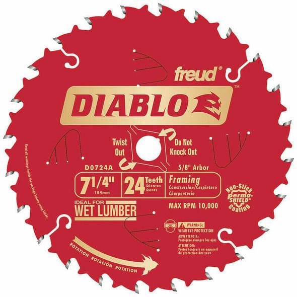 Diablo D0724A 7-1/4 X 24 COATED BULK 10 UNITS PER BOX