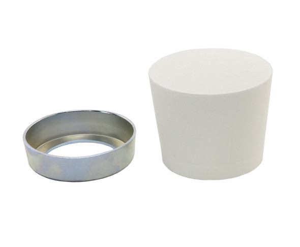 POWERNAIL White Rubber Mallet Cap Replacement Assembly (includes steel ring and rubber cap)
