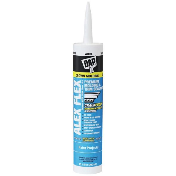 Alex Flex 10.1 oz. White Premium Molding and Trim Sealant (12-Pack)