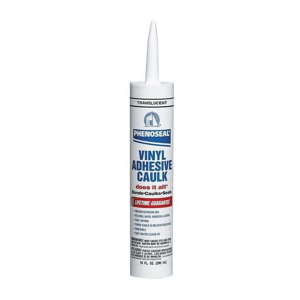 DAP Phenoseal  Vinyl Adhesive Caulk White 10oz Cartridge, ( Case 12)
