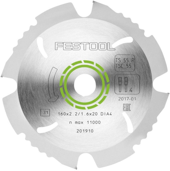 Festool 202958 TS 55 Diamond Saw Blade For Fiber Cement Board