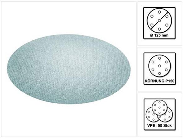 """Festool 203297 P150 Grit Granat Net Abrasives, 5"""""""