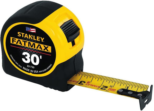 STANLEY FATMAX Tape Measure, 30-Foot