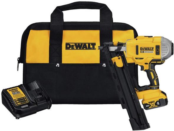 DEWALT 20V MAX Framing Nailer Kit, 21-Degree, Plastic Collated