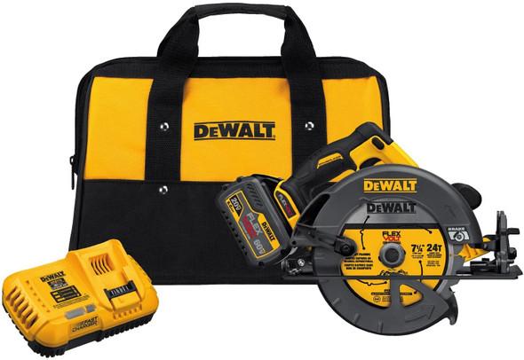 DEWALT FLEXVOLT 60V MAX Circular Saw with Brake Kit, 7 1/4-Inch, Brushless, Fast Charger