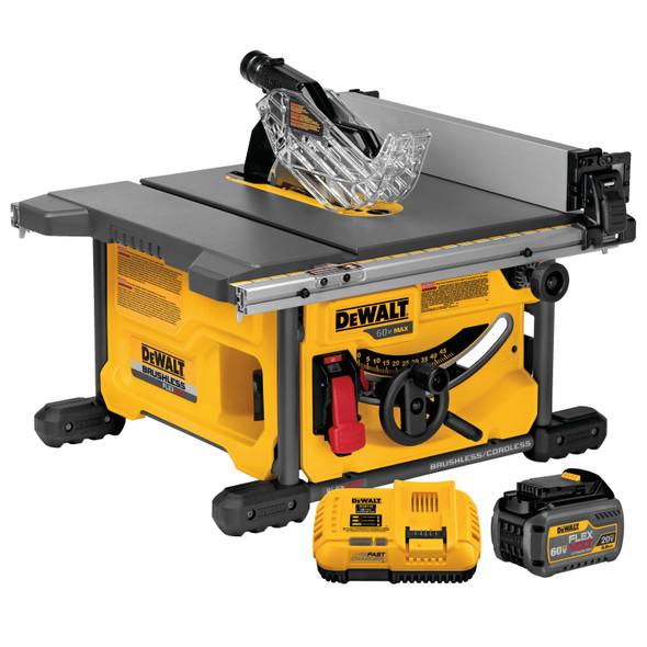 Dewalt FLEXVOLT Table Saw DCS7485T1-EB 2 batteries