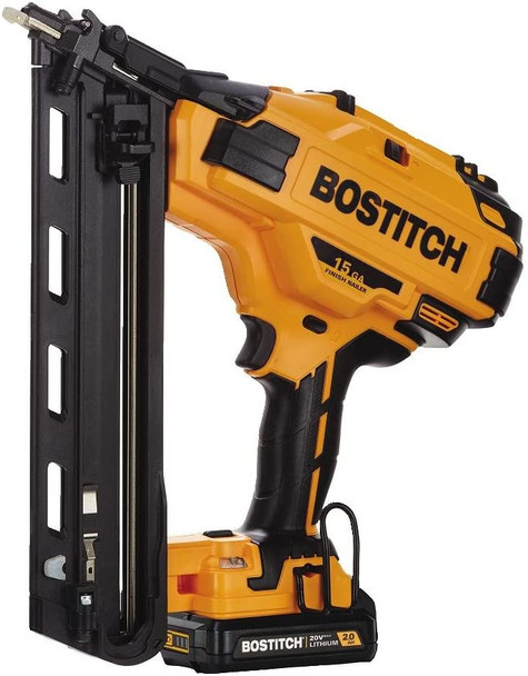 BOSTITCH 20V MAX Finish Nailer Kit, Angled, 15GA