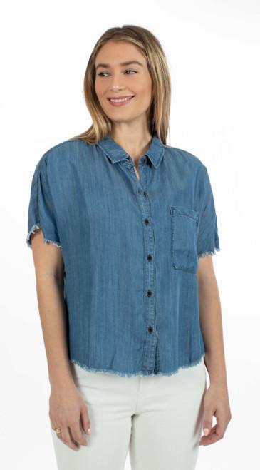 Frayed Crop Shirt