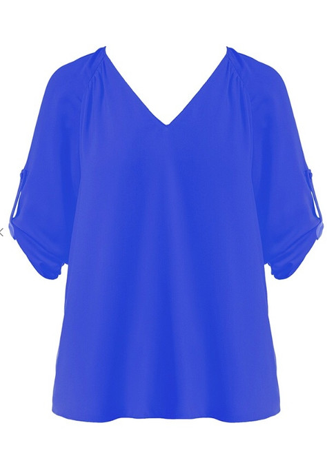 Short Sleeve Blouse With Tabs