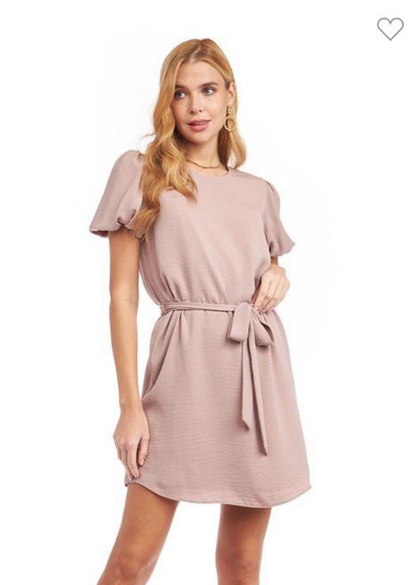 Bubble Sleeve Mini Dress