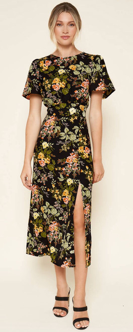 Night Bloom Floral Midi Dress