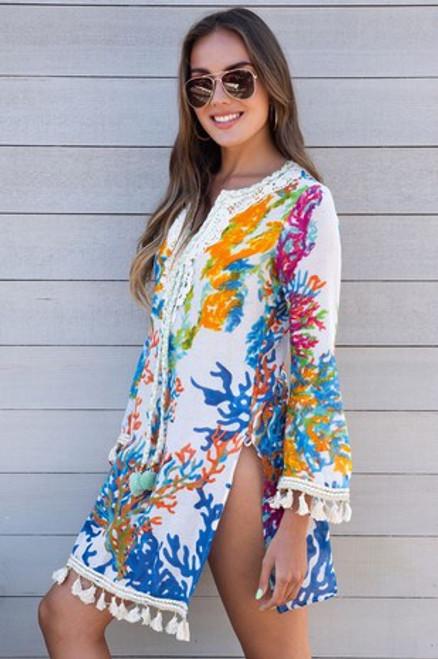 Sea Coral Tunic Dress