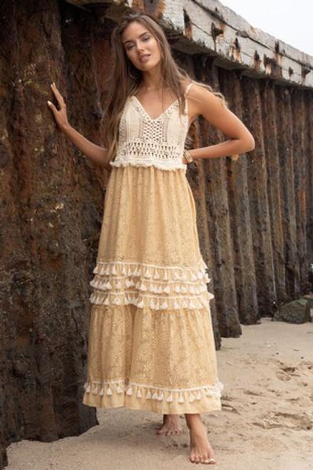 Crochet Shell Maxi Dress