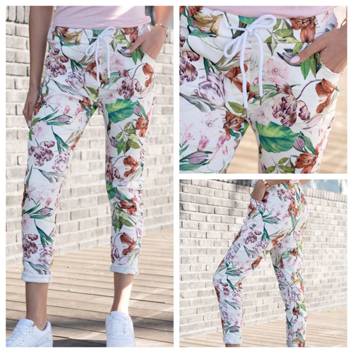 Floral Joggers Crinkle