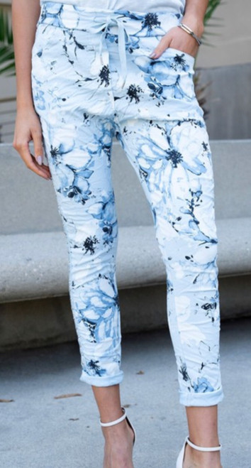 Spring floral Print Joggers