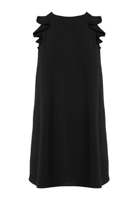 Ruff Cap Sleeve Dress