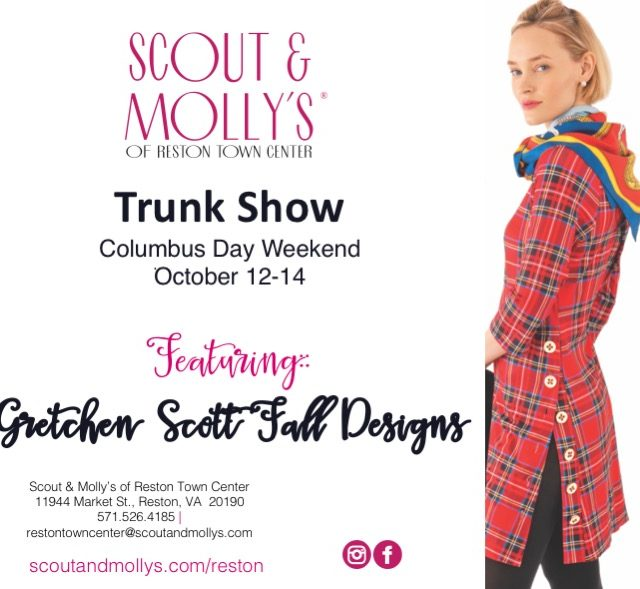 gretchen scott oct trunk show womens clothes reston