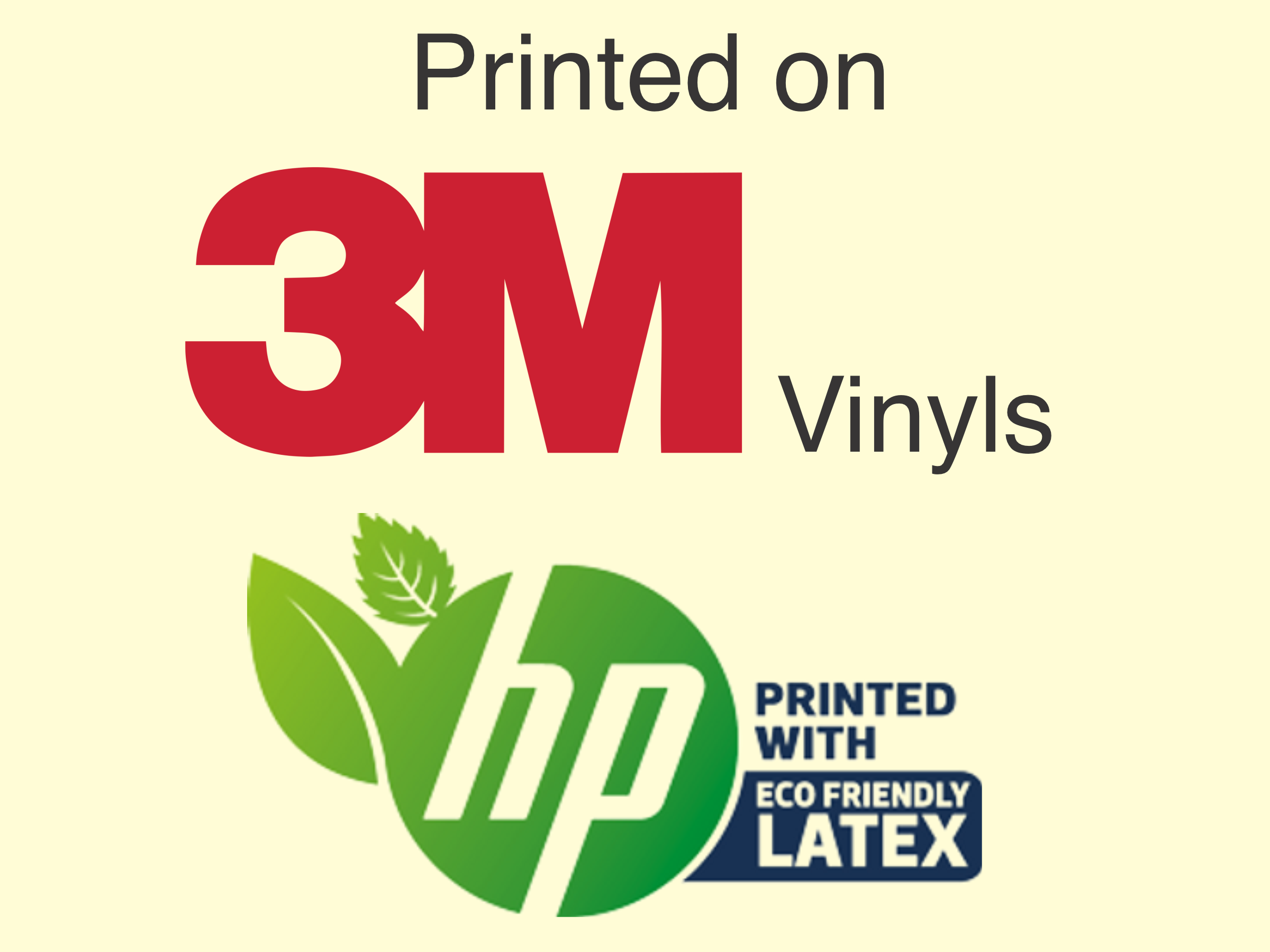 3m vinyl stickers outdoor hp latex ink