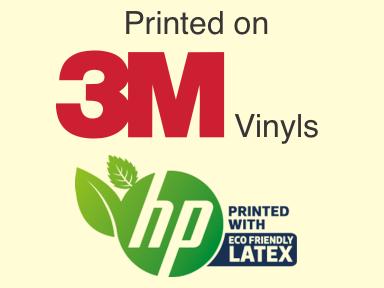 3m vinyl stickers outdoor hp latex ink