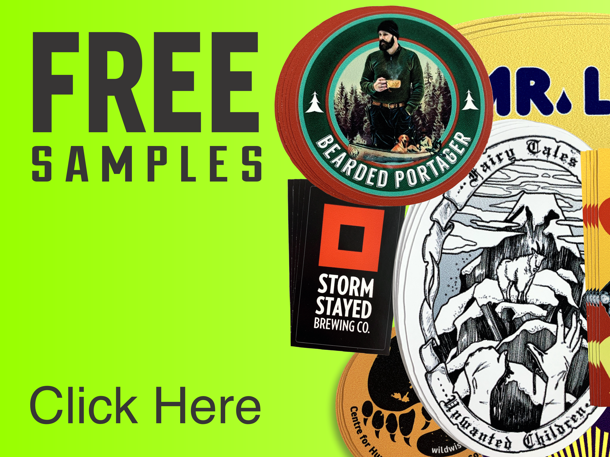 free samples stickers labesl