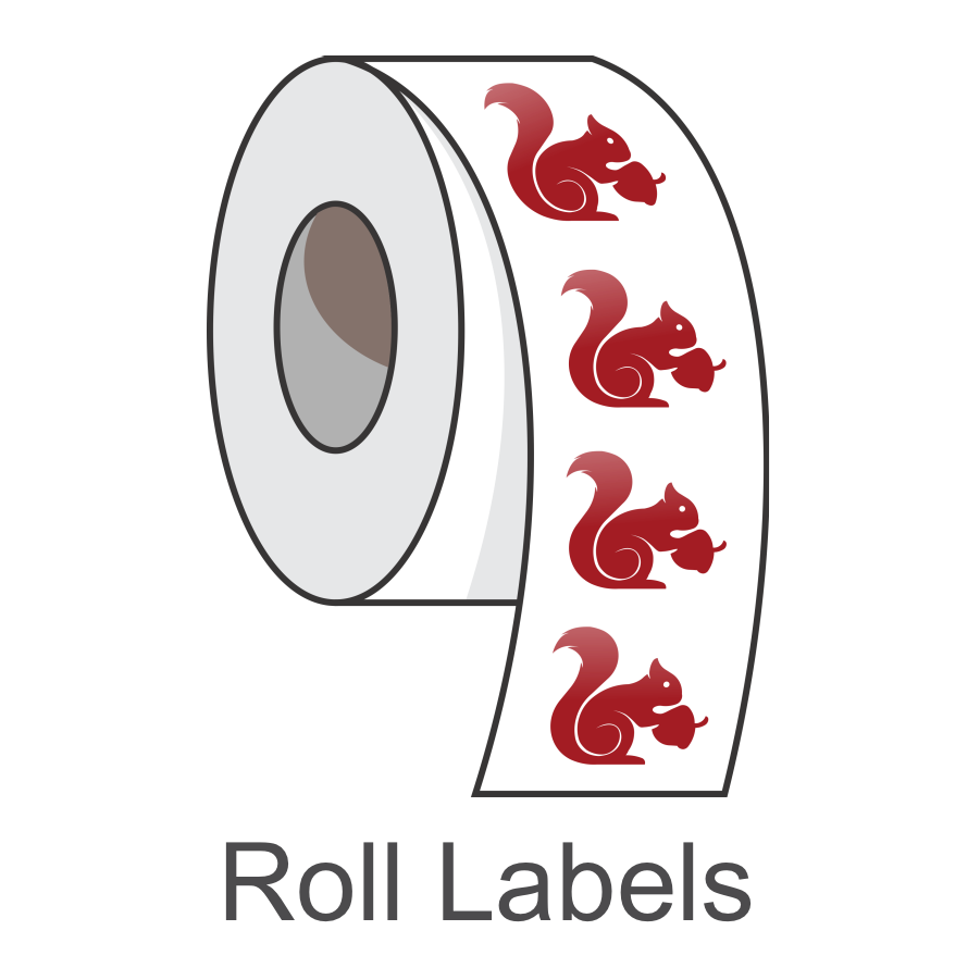roll labels made in canada poly bopp die cut paper laminated