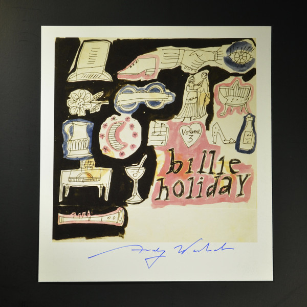 Billie Holiday signed photo print
