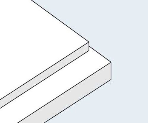 Acid-Free White Mounting Board - Double Thick (.090)
