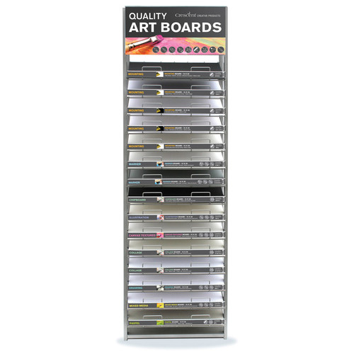 Assorted Art & Mounting Boards Display - 15 Shelf - General Assortment