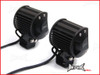 Motorcycle Universal 18w CREE LED Spot / Driving Lights + Complete Wiring Kit - PLUG N PLAY