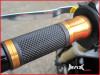 GOLD CNC Machined Aluminium / Rubber Grips - 7/8