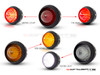 "2.75"" Universal Alum LED Stop / Tail Lights + Turn Signals + Reverse Lights - Set Of 6"