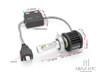 Super Bright Aozoom LED H4 Headlight Bulbs - Hi / Low Beam - Plug n Play