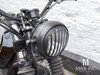 "5.75"" Black Prison Bar Grill Metal Headlight Cover"