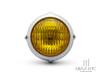 "5.5"" Polished Alloy Vintage Style Headlight - Yellow Lens"