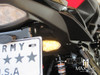 Black License Plate Mount Mini LED Turn Signals / Indicators - Emarked
