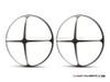 """Cross Design 7"""" Black + Contrast Cut CNC Aluminum Headlight Guard Covers - Pair"""