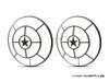 "Star Design 7"" Black + Contrast Cut CNC Aluminum Headlight Guard Covers - Pair"