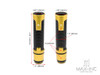 "Sportz Gold Anodized CNC Machined Aluminum / Rubber Hand Grips + Bar Ends - 7/8"" (22mm)"