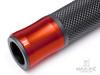 "Retro Dark Orange Anodized CNC Machined Aluminum / Rubber Hand Grips - 7/8"" (22mm)"