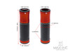 "Retro Dark Orange Anodized CNC Machined Aluminum / Rubber Hand Grips - 7/8"" (22mm)"