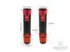 "Sportz Dark Orange Anodized CNC Machined Aluminum / Rubber Hand Grips + Bar Ends - 7/8"" (22mm)"
