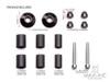 "Black Anodized CNC Machined Aluminum Bar Ends - 7/8""(22mm)"