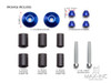 "Blue Anodized CNC Machined Aluminum Bar Ends - 7/8""(22mm)"