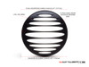 "Prison Grill Design 7"" Black CNC Aluminum Headlight Guard Cover"