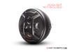"Armour Grill Design 7"" Black CNC Aluminum Headlight Guard Cover"
