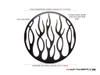 "Flame Grill Design 7"" Black CNC Aluminum Headlight Guard Cover"