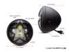 "7.7"" Matte Black Multi Projector LED Headlight + Big Star Grill Cover"