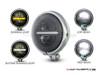 "5.75"" Chrome Bates Style Metal Classic / Modern LED Headlight"